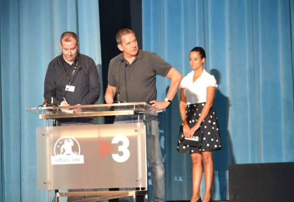 Dick Maas presentando Saint en L'Auditori
