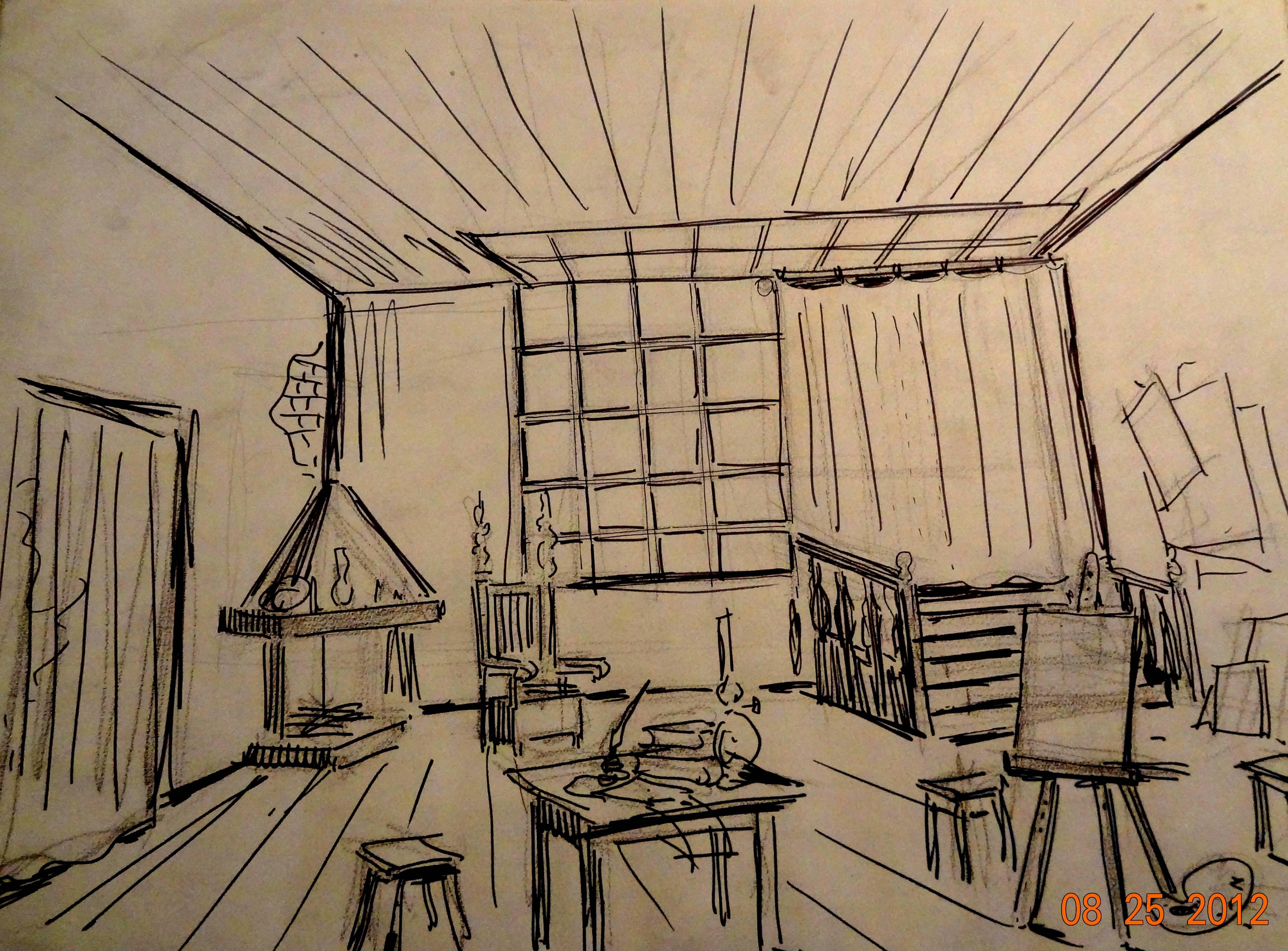 Otra faceta de paul naschy el dibujo proyecto naschy for Asignaturas arquitectura