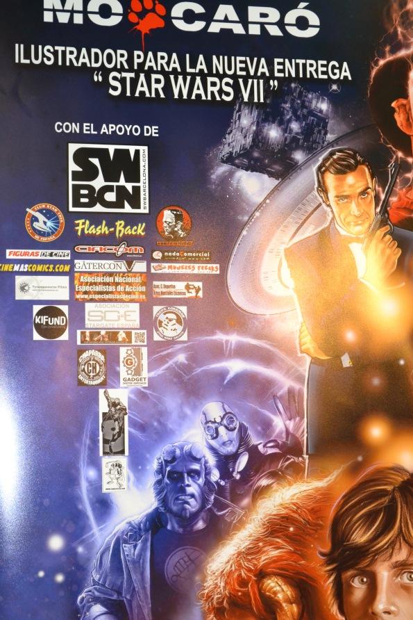 Serendipia apoyando que el próximo cartel de la saga espacial esté ilustrado por Mo Caró.