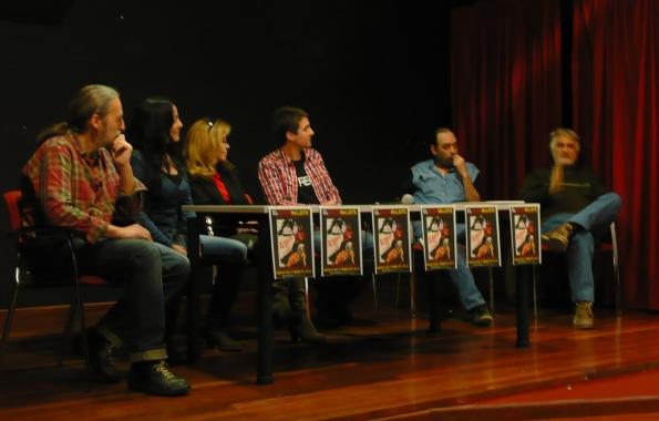 De izquierda a derecha: Ignasi P. Ferrer, Mercè Fillola, María Elías, Diego López, Josep Canet y Ricard Reguant.