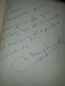 La dedicatoria de Chicho.