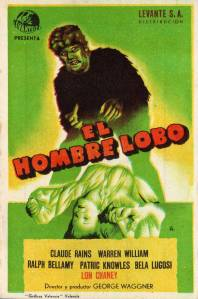 207 1941 THE WOLF MAN (USA, 1941 George Waggner) Universal. Simple herald.