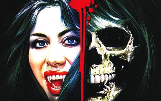 Detalle del poster de Female Vampire, film de Jesús Franco.