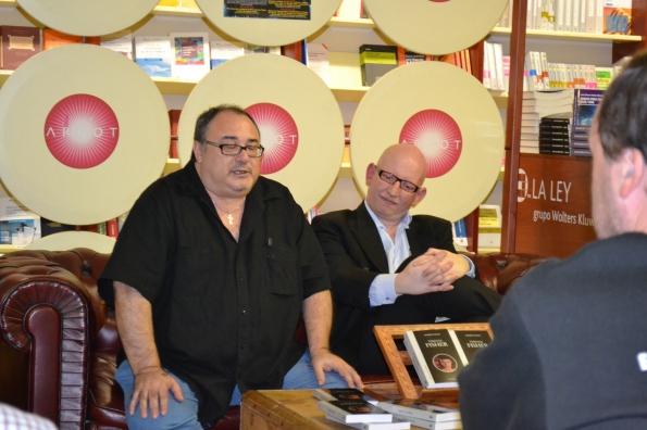 Miguel Ángel Plana, que hizo de maestro de ceremonias junto a Joaquín Vallet, que presentó su libro sobre Terence Fisher