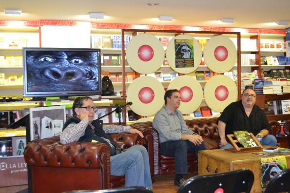Kong (en la televisión), Salvador Sáinz, Jorge Juan Adsuara y Miguel Ángel Plana presentado el libro sobre Willis O'Brien .