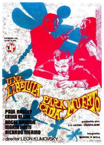1 El cartel español de Una libélula para cada muerto era ciertamente naif y diferente (archivo autor)