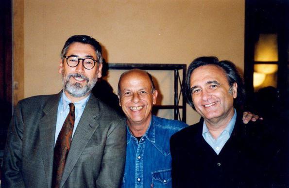 El director con John Landis y Joe Dante