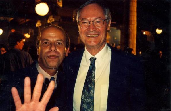 Iván Cardoso junto a Roger Corman