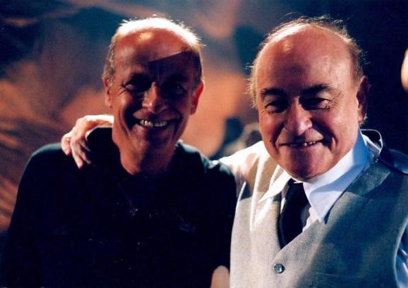 Iván Cardoso y Paul Naschy durante el rodaje de Um Lobisomem Na Amazonia.
