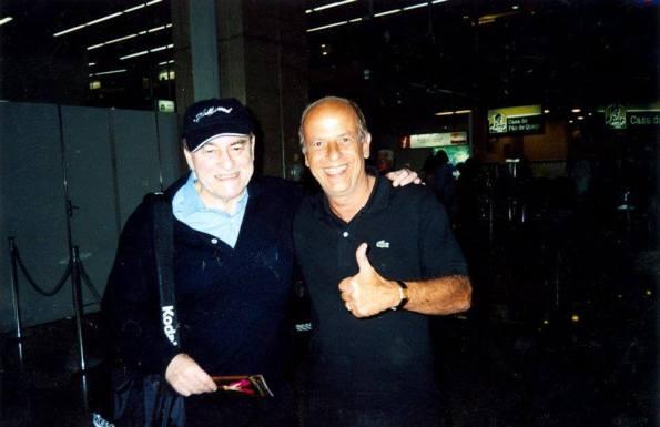 Naschy con Cardoso recién llegado a Brasil