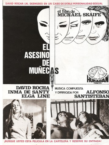 Propaganda sobre El asesino de muñecas realizada por Pierrot  y publicada en la revista Vudú en la época del estreno del film.