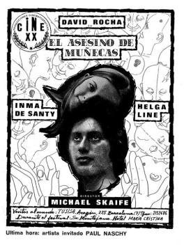 Una propaganda sobre el rodaje del filme en el que puede leerse que se contó con un papel para Paul Naschy que finalmente no se materializó.