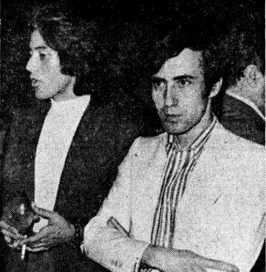 David Rocha y Michael Skaife posiblemente antes de iniciar el rodaje del filme.