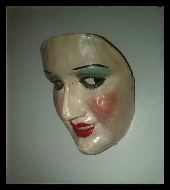 La máscara original de El asesino de muñecas que David Rocha conserva (foto gentileza de David Rocha)