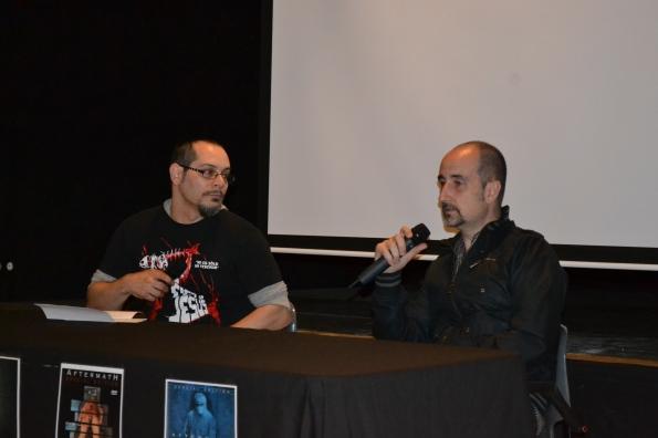 Nacho Cerdà junto al editor y responsable de Klowns Asesinos David Solé (Foto Serendipia)