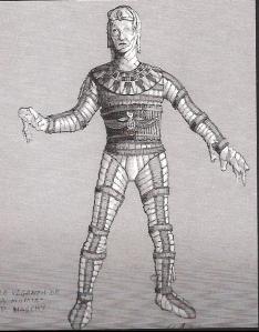 Diseño original de la vestimenta de la momia