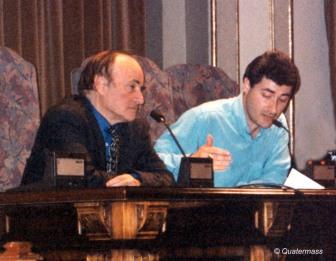 Con Paul Naschy durante el homenaje en la II Semana de Cine Fantástico de Bilbao (1996).
