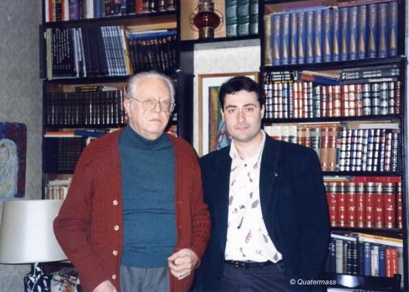 Javier con Amando de Ossorio en su domicilio de Madrid (1996)