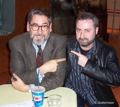 Con John Landis en Trieste (2004).
