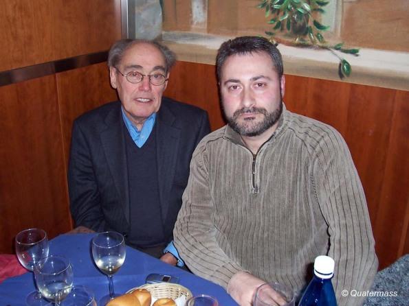 Con Jimmy Sangster en Trieste (2004).