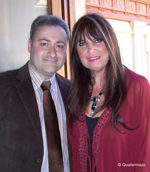 Con Caroline Munro en Granada (2009).