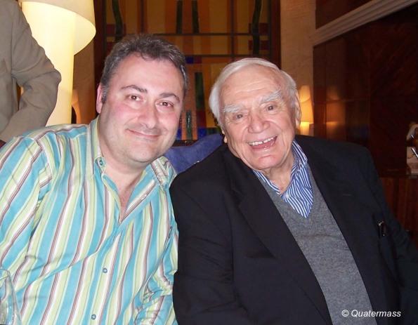 Con Ernest Borgnine en Almería (2009).