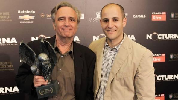 Sergio con Joe Dante durante la primera edición de Nocturna.