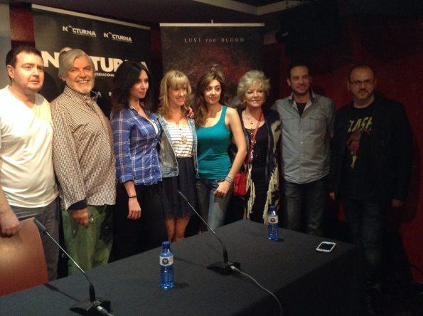 Parte del equipo artístico durante la presentación de algunas escenas de Vampyres en el Festival Nocturna de Madrid.