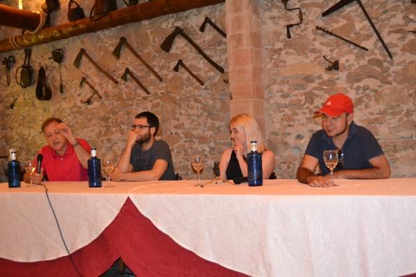 Los protagonistas de la mesa redonda (de izq. a der.): Carlos Alberto Scolari, Pau Teixidor, la moderador Marta Torres y Marc Carreté.