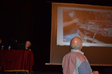 Colin y Sarah durante la clase magistral en El Círcol de Badalona.