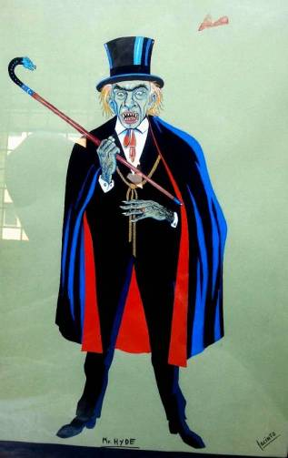 Dibujo de Mr. Hyde realizado por un joven Jacinto Molina (gentileza de Sergio Molina)