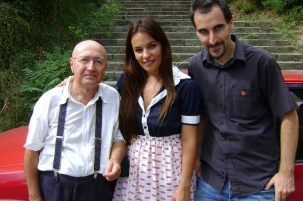 El director con Juan Carlos Olaria durante el rodaje de Difuminado