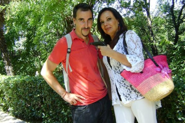 Pere Koniec con nuestra amiga la actriz Carmen Serret.