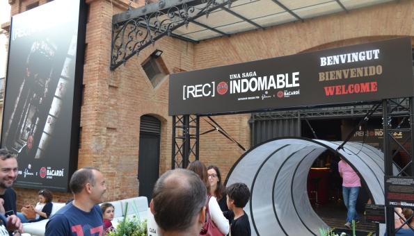 La entrada a la exposición.