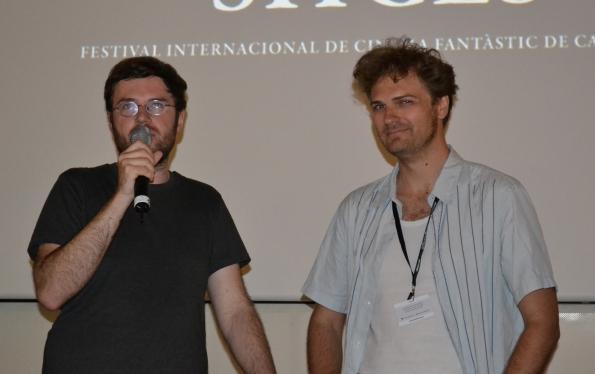 El director de Der Samurai, Till Kleinert (izq.) junto a uno de los productores del film, Linus de Paoli.