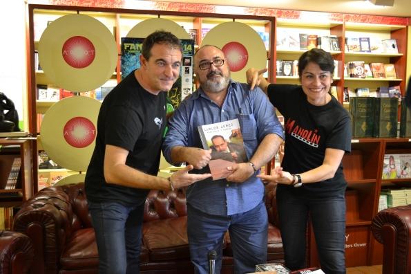 Miguel Ángel Plana secundando por Manuel Valencia y