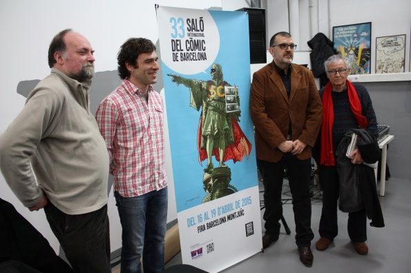 De izquierda a derecha: Antoni Guiral, Jordi Lafebre, Carles Santamaría y Fer (Foto: Ficomic)