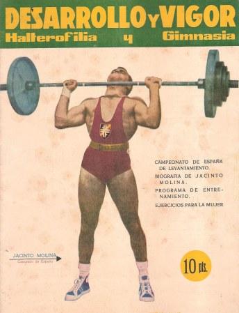 Primer número de la revista 'Desarrollo y vigor' (1961) con Jacinto Molina en portada.