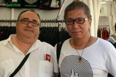 Con Miike en Sitges (Foto: Archivo M. A. Plana)