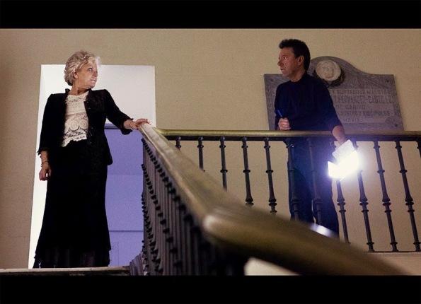 Luis Esquinas rodando junto a Lone Fleming (Archivo L. Esquinas)