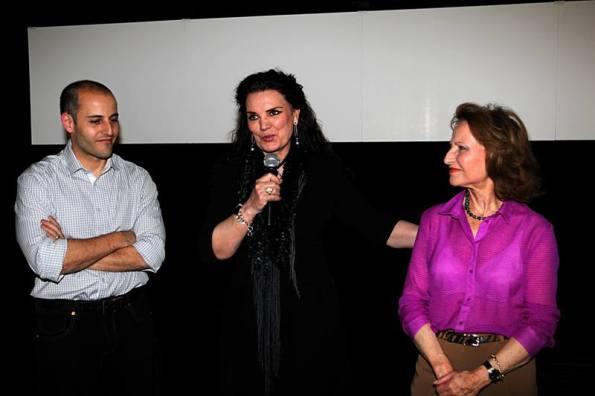 Sergio Molina, María José Cantudo y Elvira Primavera, esposa de Jacinto Molina (foto archivo Nocturna)
