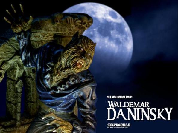 Figura de Waldemar Daninsky lanzada por Scifiworld en claro homenaje a la caracterización y vestuario del actor en El retorno del hombre lobo
