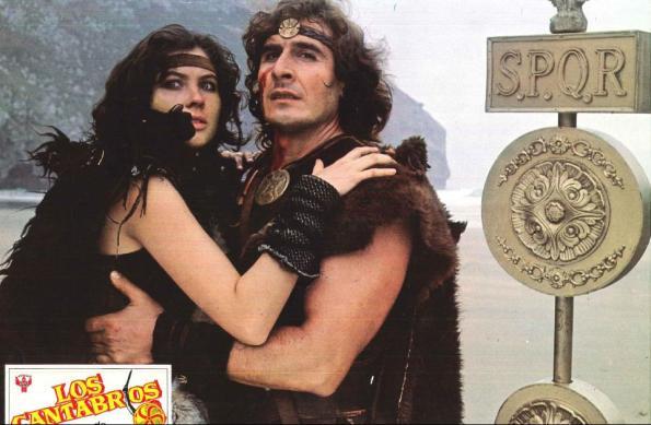 Dan Barry y Verónica Miriel en un fotocromo de Los Cántabros