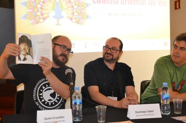 José Miguel Rodríguez, Domingo López y Xevi Domínguez durante la presentación de Wild, Wild East (foto: Serendipia)