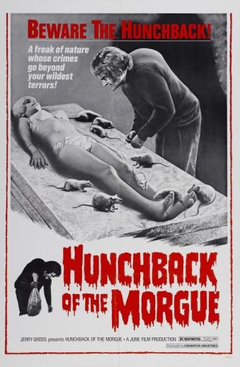 El truculento cartel americano de El jorobado de la Morgue
