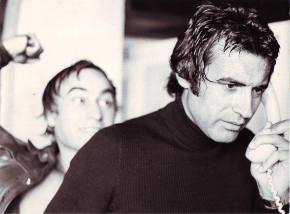 Junto a Paul Naschy en una foto perteneciente a una sesión promocional realizada en casa de Vic