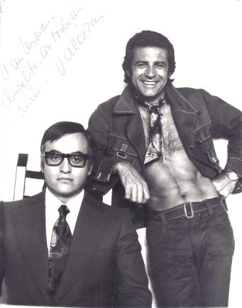 Otra imagen de Naschy y Winner perteneciente a la misma sesión promocional privada.