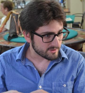 Javier Pueyo durante su estancia en el Cryptshow (foto: Serendipia)