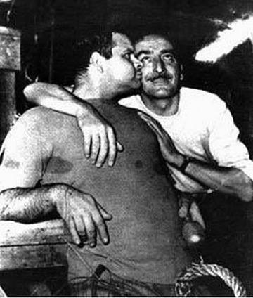 Un joven Lucio Fulci con Mario Bava