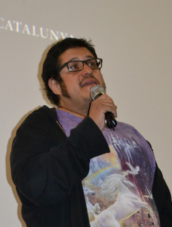 Artemio Narro presentando su película en El Retiro (Foto: Serendipia)